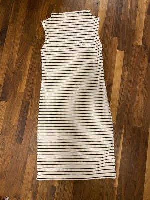 Zara Knit Vestido elástico negro-blanco