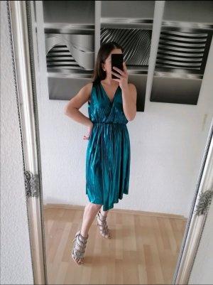 Kleid von Zara, Metallickleid, Neu, Größe S, Wickel Kleid