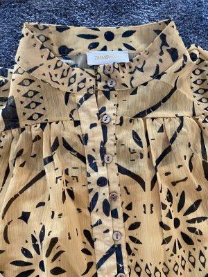 Kleid von ZIMMERMANN Gr. 0 (S/M) Schwarz/gelb