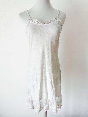 Kleid weich spitze beige