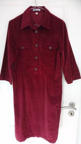 Kleid - Weinrot - Feincord - Gr. 40