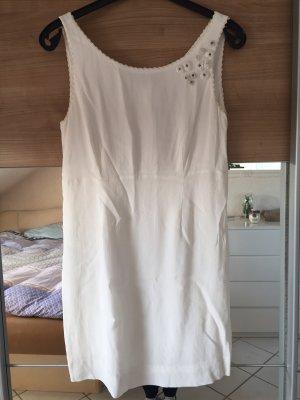 Noa Noa Szyfonowa sukienka biały-srebrny