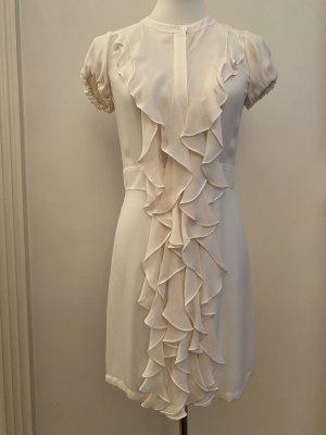 BCBGMAXAZRIA Sukienka z falbanami biały