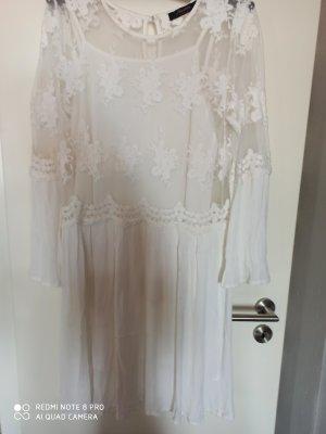 Aniston Kanten jurk wit