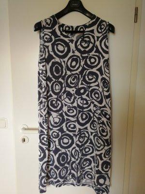 Kleid weiß-grau gemustert