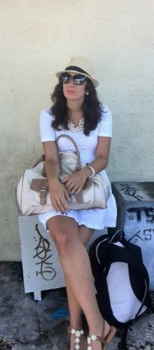Kleid weiß H&M S blogger hipster boho T-Shirt Top