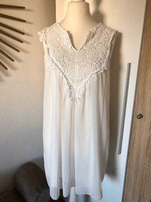 Keine Marke Hippie Dress white-natural white polyester