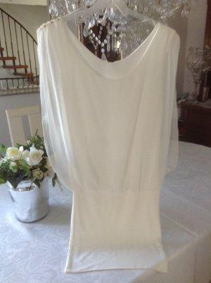 Kleid / weiß / Materialmix / Gr. 36 S