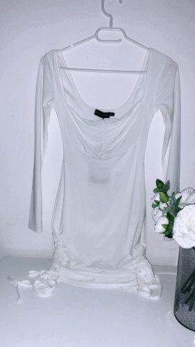 Kleid weiß minikleid whhite elegant eng dress