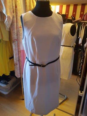 Kleid weiß mit Gürtel 44