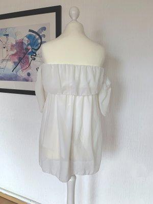 Kleid, Weiß, Ohne Träger