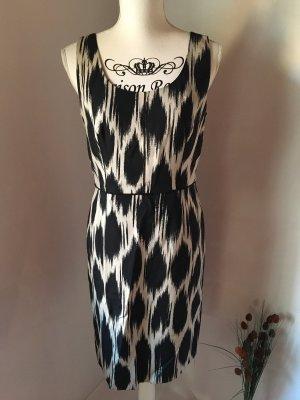 Ann Taylor Sukienka midi biały-czarny