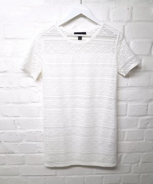 Amisu Robe en dentelle blanc polyester