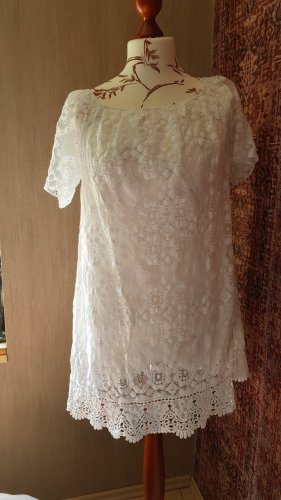 Made in Italy Empire Dress white cotton