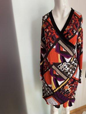 Kleid Wickel  Look gereift von Comma Gr 36 38 S