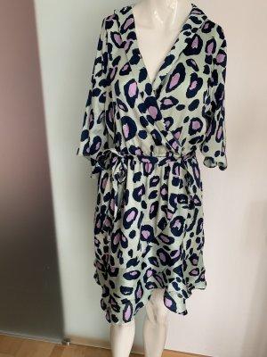Kleid Wickel Look in Seiden Optik Gr 40 42 XL von Blue Vanilla