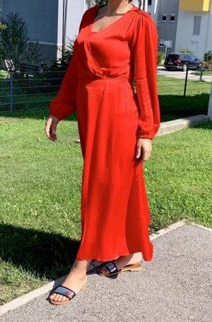 Kleid Wickelkleid Satin