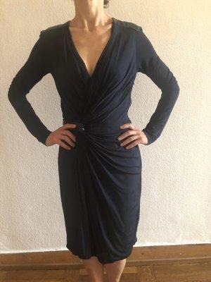 Kleid Wickelkleid von Strenesse XS 34 Wickeloptik dukelblau TOP