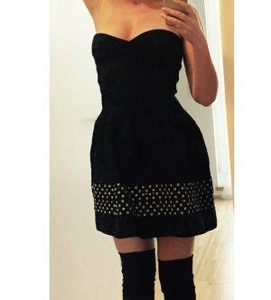 Wish Vestido bandeau negro-blanco