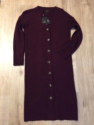 Massimo Dutti Woolen Dress bordeaux wool