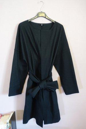 COS Vestido de lana negro tejido mezclado