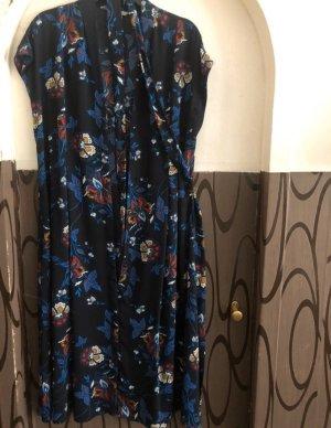 Kleid XL blau schwarz