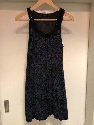 Zero Sukienka z rękawem balonowym czarny-ciemnozielony