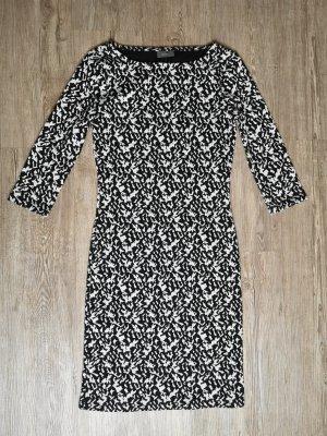 Kleid Yessica XS schwarz weiß 3/4 Ärmel