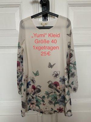 Yumi Chiffon Dress natural white chiffon
