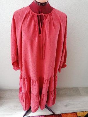 Zara Chiffon jurk zalm