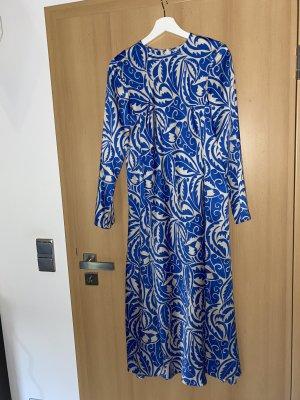 Zara Midi-jurk blauw-wolwit