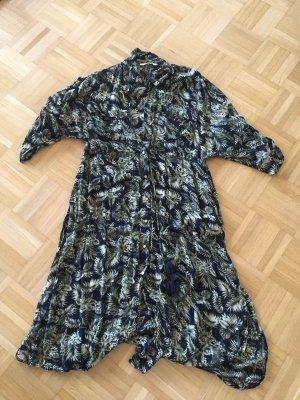 Zara Vestido tipo blusón multicolor modal