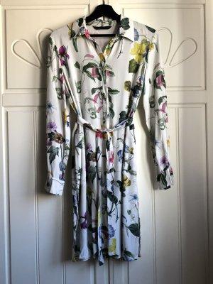 Zara Shirtwaist dress multicolored viscose