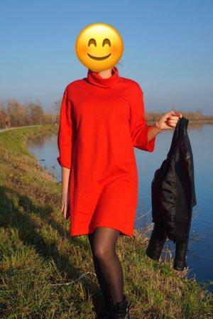 Zara Robe pull rouge