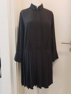 Zara Vestito peplo blu scuro