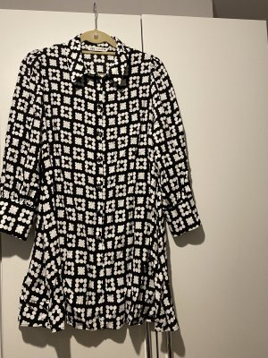 Zara Sukienka koszulowa czarny-biały