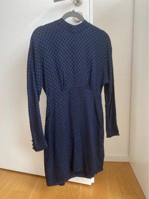 Zara Longsleeve Dress dark blue-blue