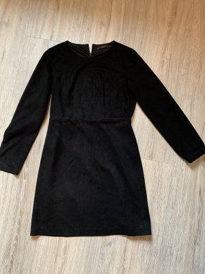Kleid Zara velour Leder Optik Minikleid