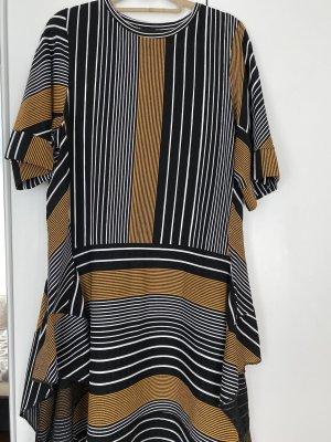 Kleid Zara wie neu Gr. S Hippie Boho stylisch Top Zustand schwarz Gold weiß top top !
