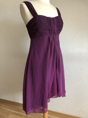 Zero Szyfonowa sukienka brązowo-fioletowy