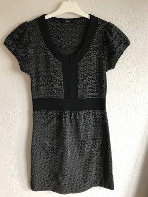 Kleid Zero Grau Schwarz Puffärmel