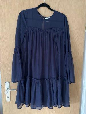 Hennes Collection by H&M Sukienka z falbanami ciemnoniebieski