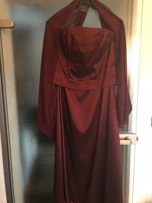 Suknia balowa bordo