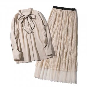 Kanten jurk lichtroze