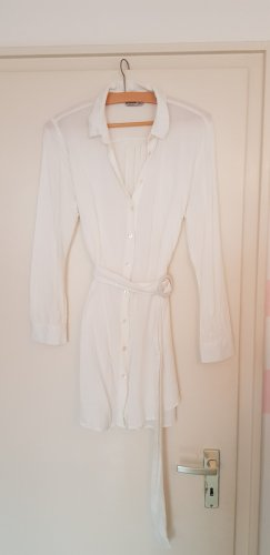 Stradivarius Shirtwaist dress white