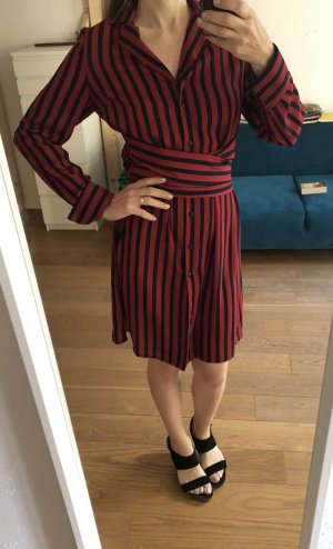 Kleide gestreiftes Kleid Midikleid