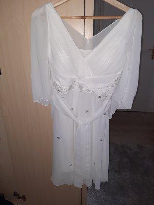 100% Fashion Sukienka midi biały