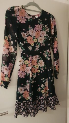 H&M Sukienka dresowa różowy-ciemnoniebieski