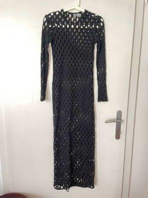 H&M Divided Sukienka z wycięciem czarny Bawełna