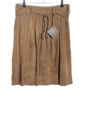 Kleidermanufaktur Habsburg Leather Skirt brown casual look